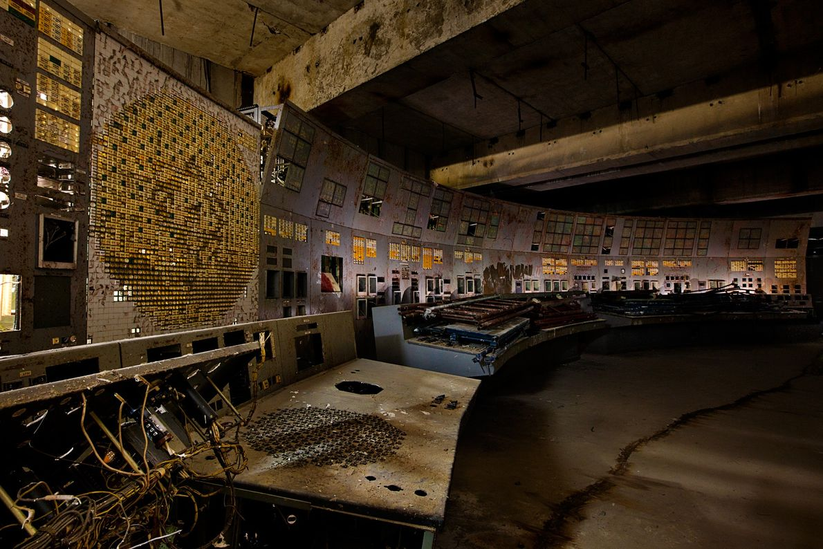 2011. On April 26, 1986, operators in this control room of reactor #4 at the Chernobyl ...
