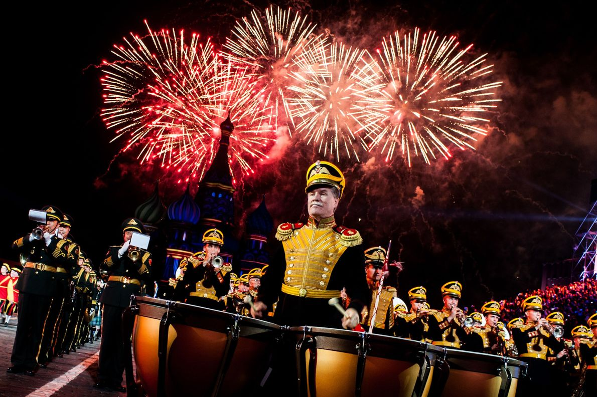 Your Shot photographer Igor Ivanko photographed the final performance of Kremlin military tattoo in Moscow.