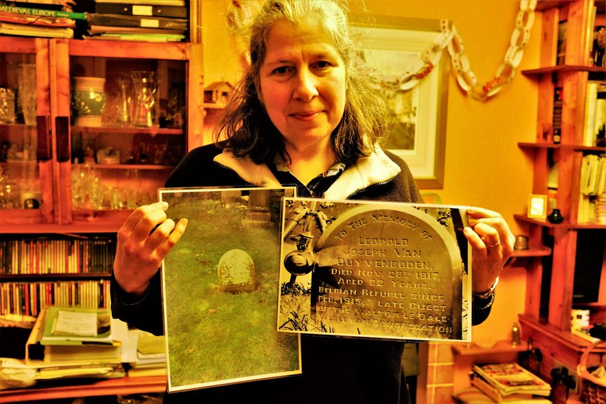 """Katie Thornton: """"Sue Stearn and a team of dedicated volunteers reanimate and digitally document fading grave ..."""