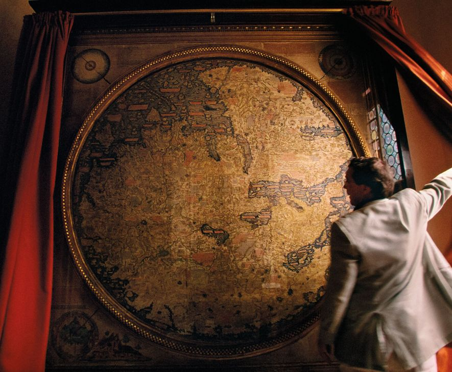 Using information given by Marco Polo in his  Travels, Venetian monk Fra Mauro created this map ...