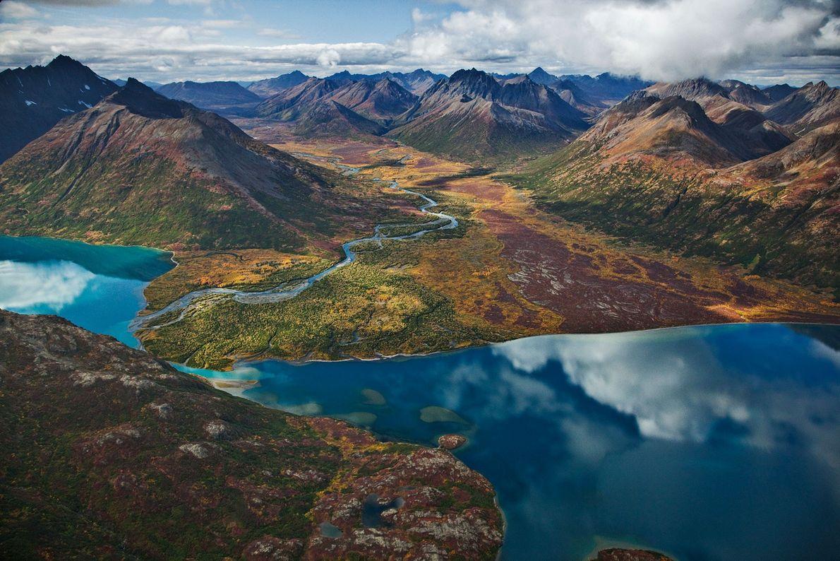 Chikuminuk Lake reflects the wilderness of Wood-Tikchik State Park, Alaska.