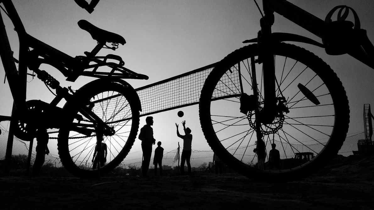 Your Shot photographer Sachin Chauhan photographed children as they played volleyball in Haryana, India. He writes, ...
