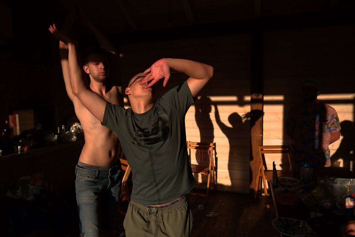 Your Shot photographer Paul Bebrenki documented this moment as young men dance to their favorite song ...