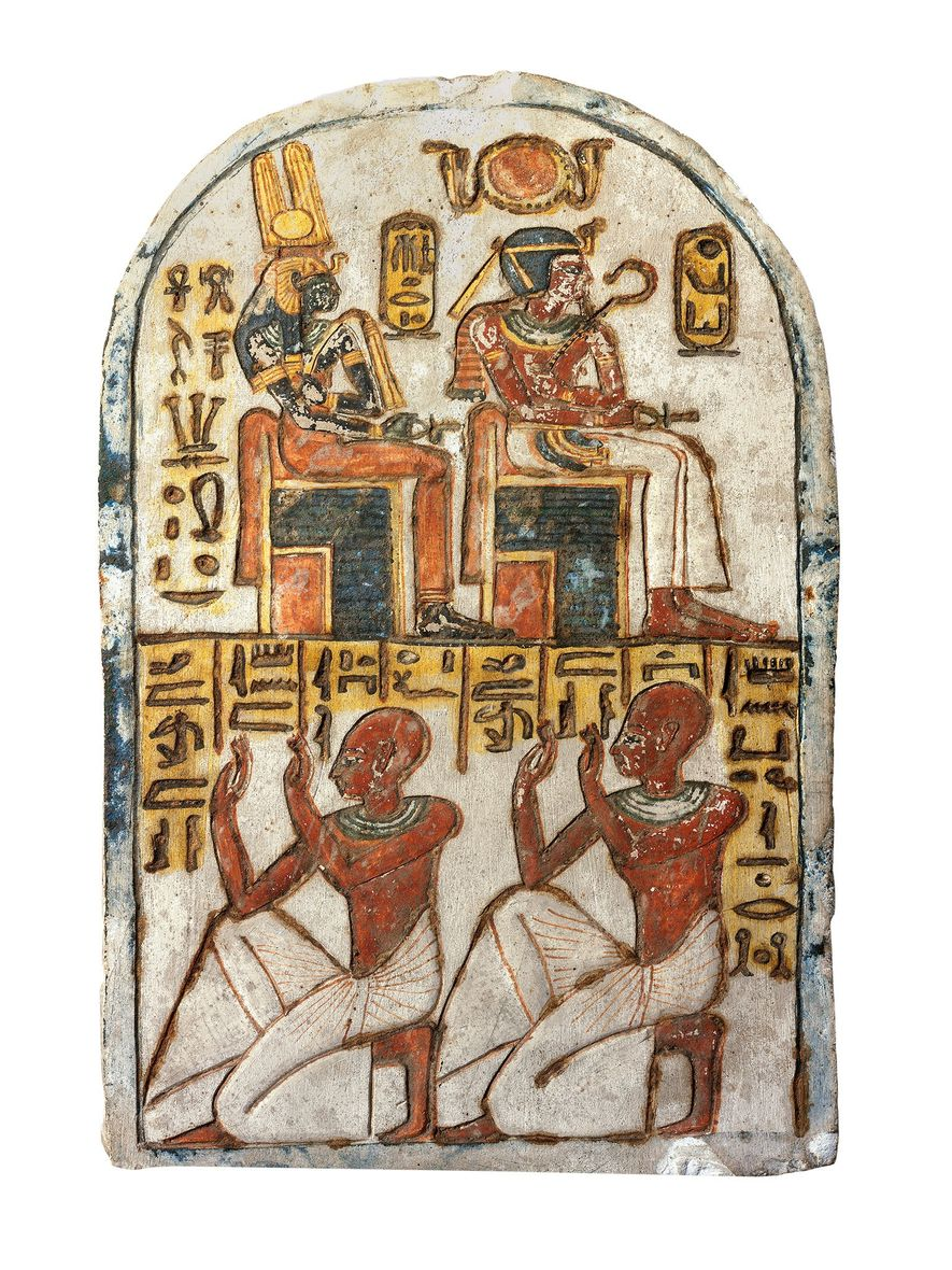 This stela, which is now in the Egyptian Museum in Turin, Italy, belonged to the royal ...