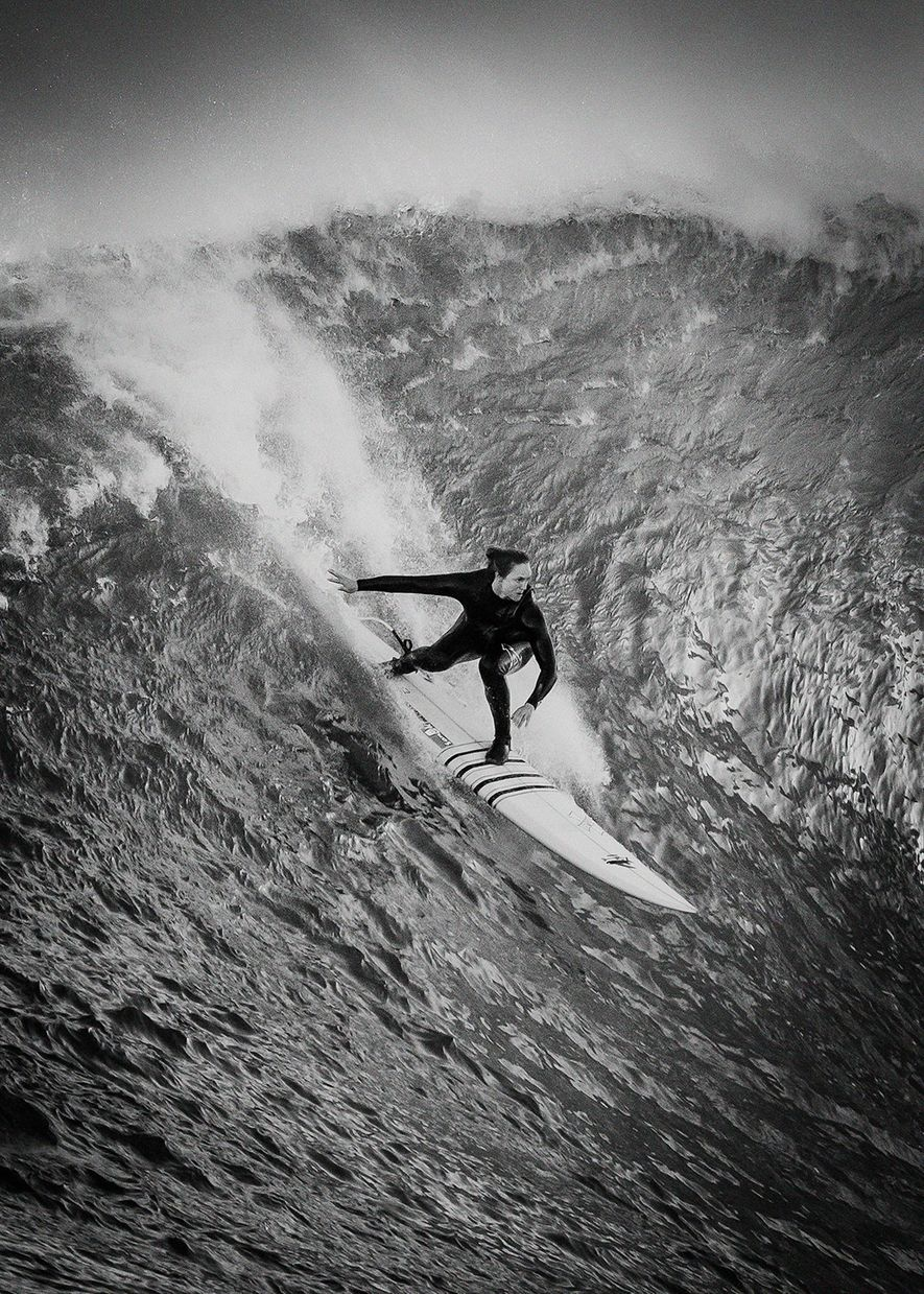 """""""Big wave surfing, one of the most dangerous sports in the world has been traditionally dominated ..."""