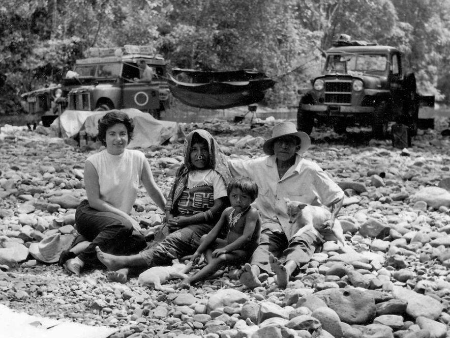 Reina Torres de Araúz, seen at left during an expedition across the Darién Gap, helped launch ...