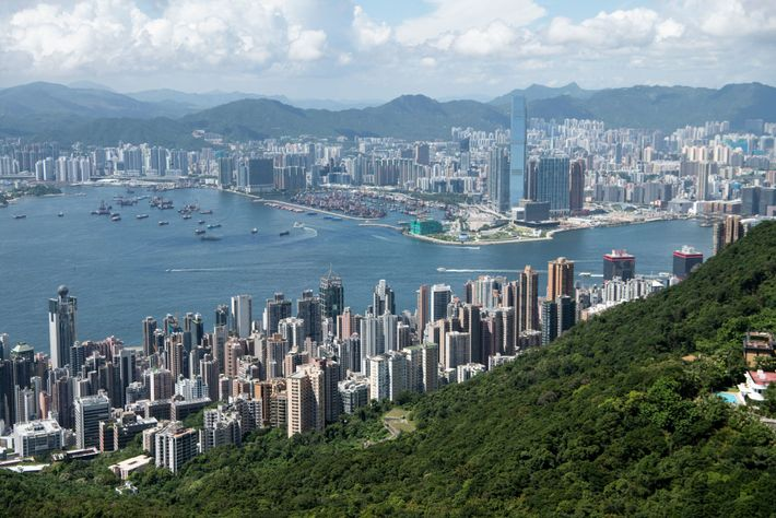 Though Hong Kong is known for its densely-packed buildings and jagged skyline, 40 percent of its ...