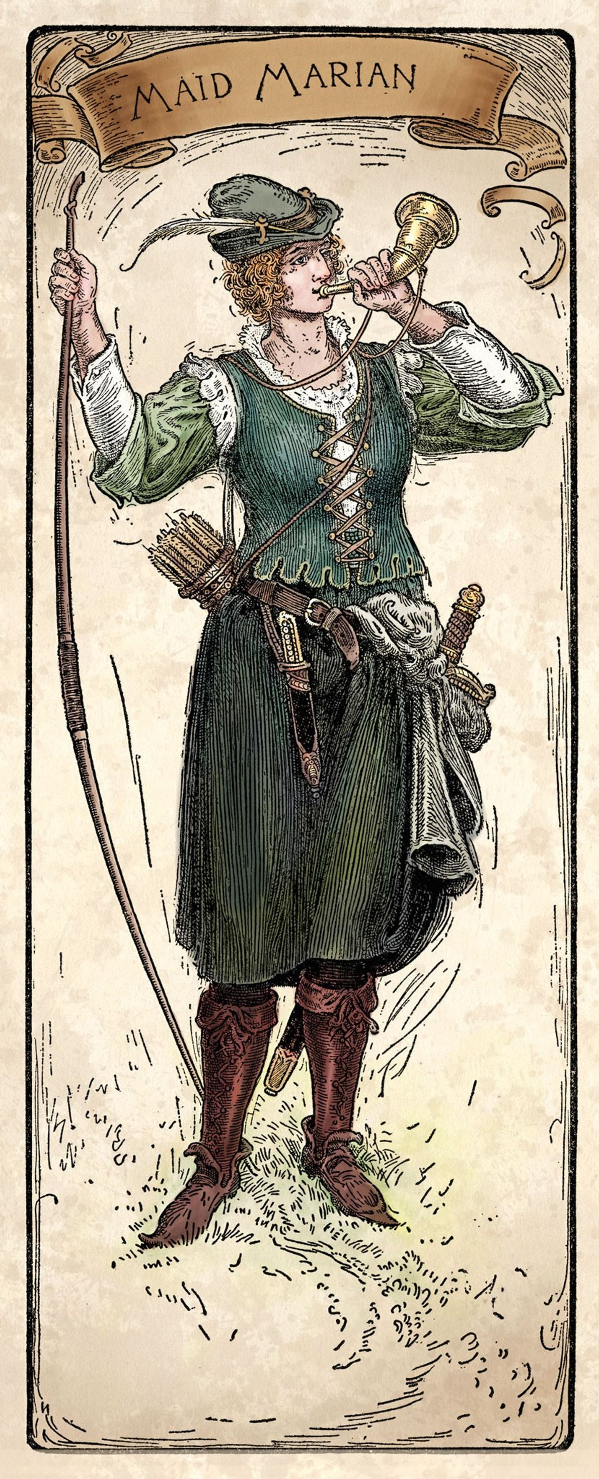 Starting in the 16th century, Marian appears in Robin Hood ballads, although she already existed as a ...