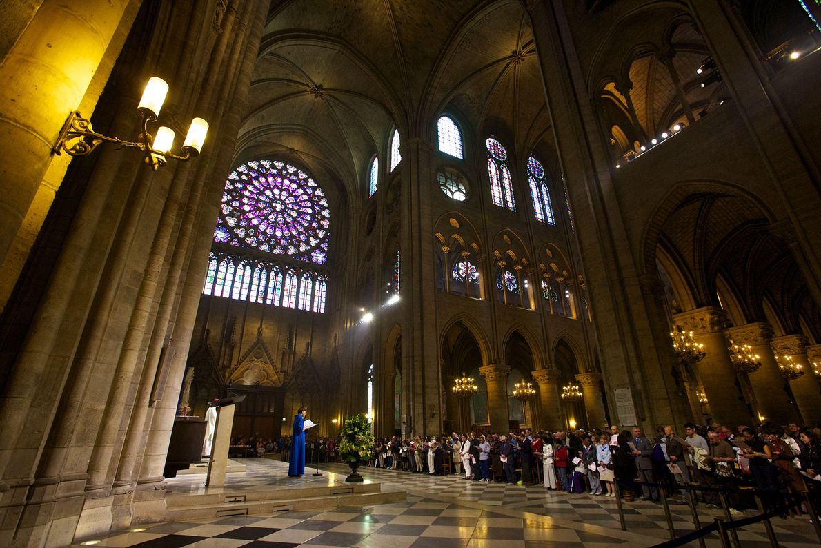 Notre Dame holds daily mass services for locals and visitors alike.