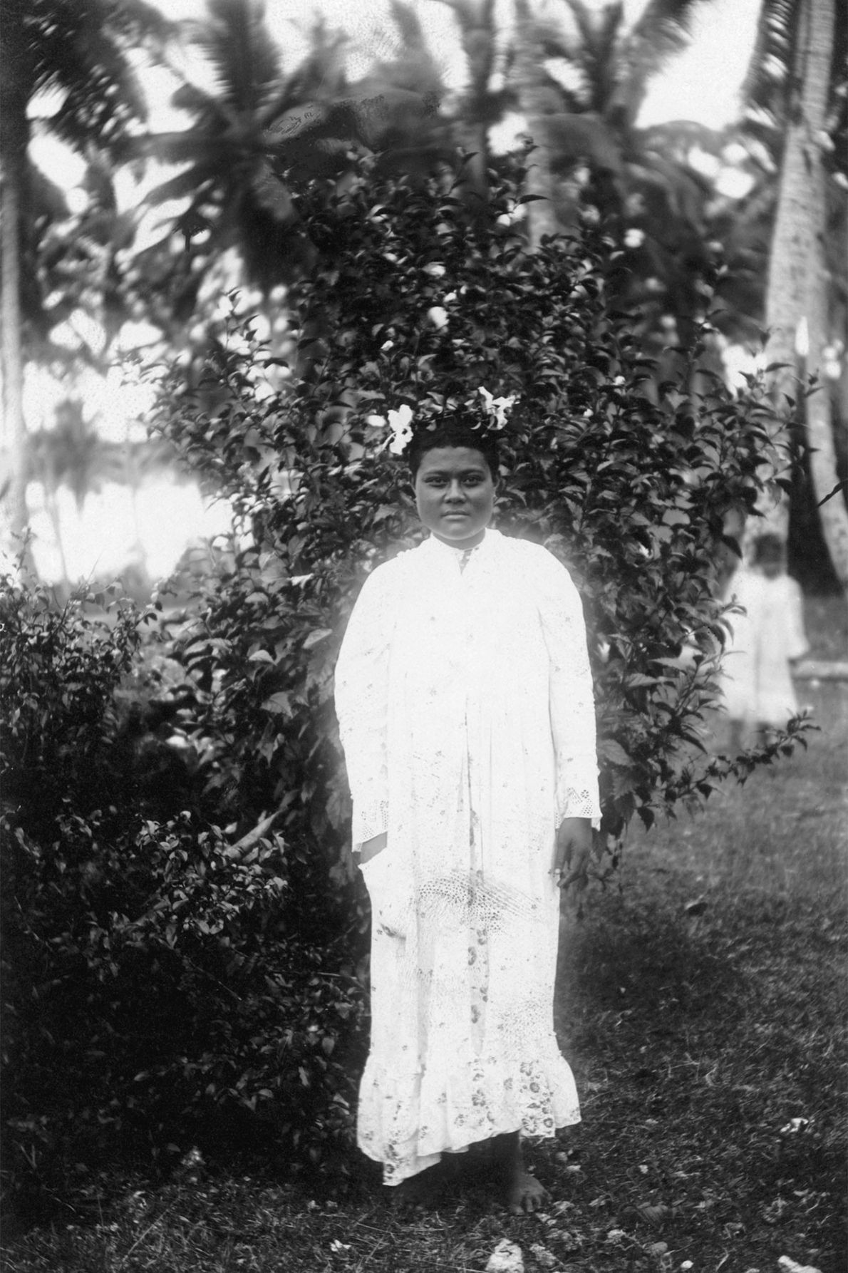 A princess of Tonga on neighboring Niue Island in the South Pacific.