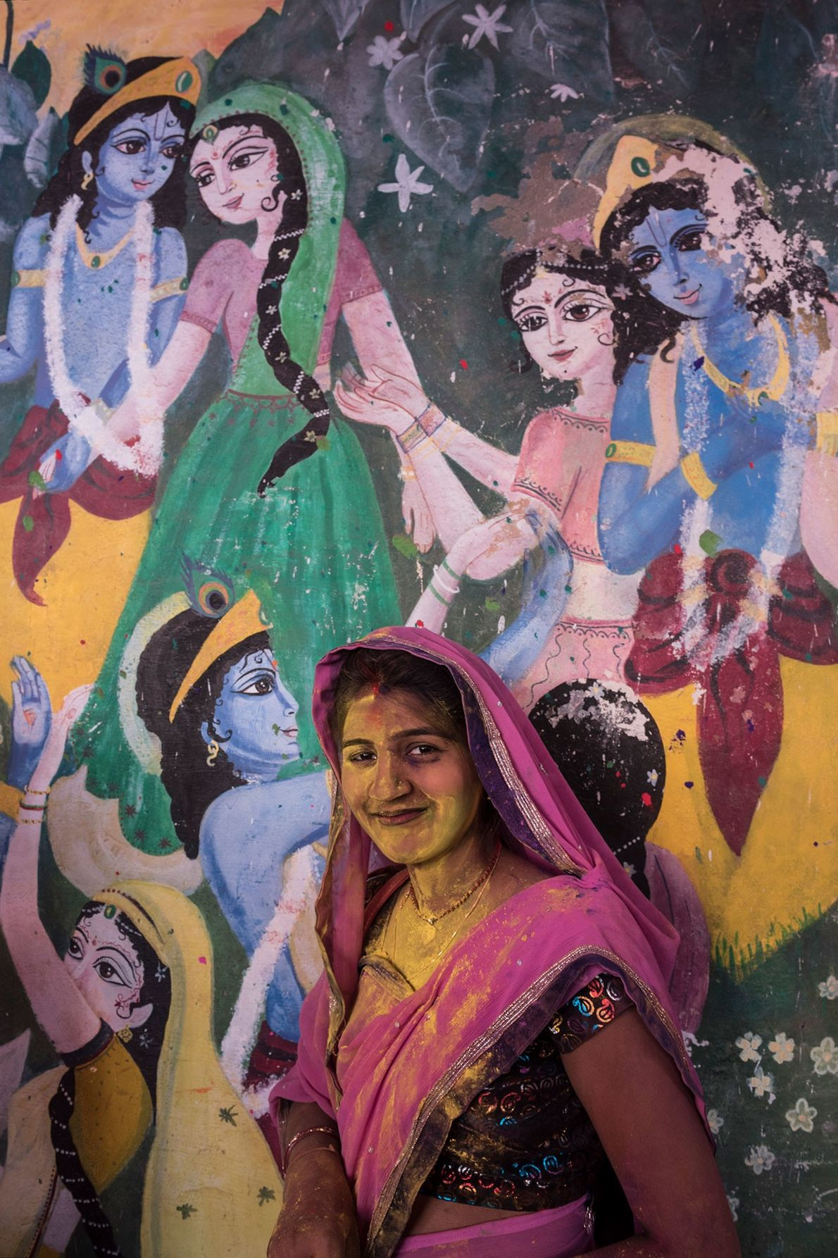 Some women take pride in dressing up as Radha, the eternal lover.