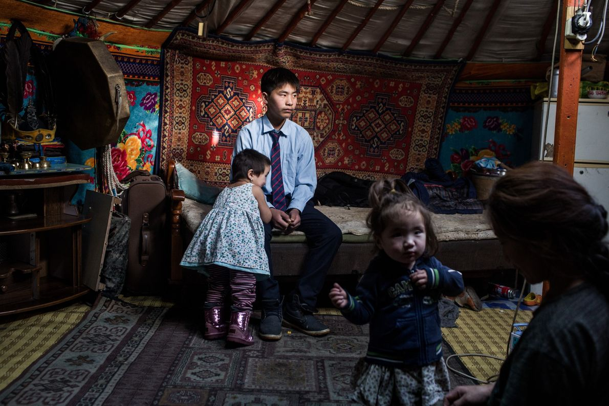 """This family's parents emigrated to Ulaanbaatar from the countryside to find work. """"It's impossible to live ..."""