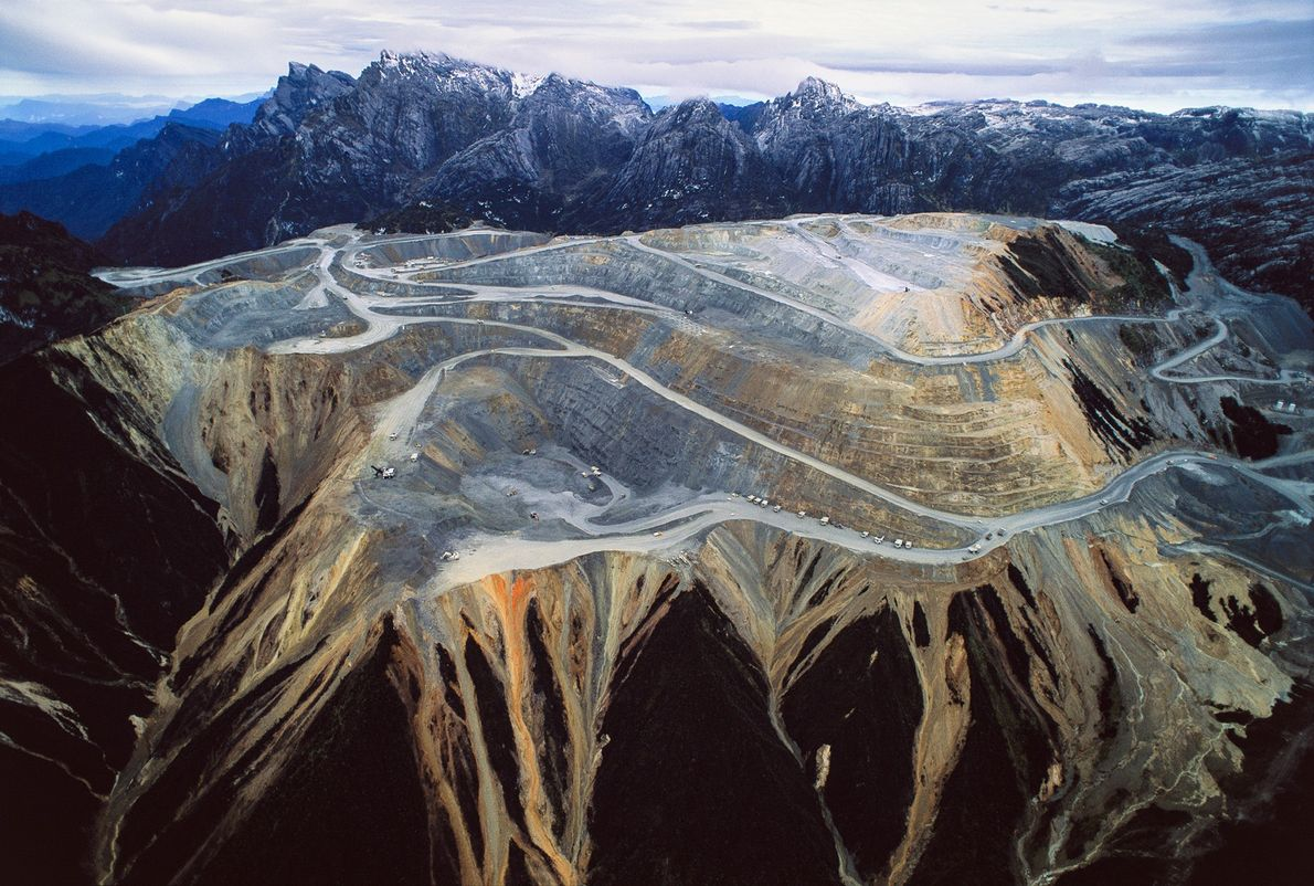 The Grasberg mine in Timika, Indonesia, is the world's largest mine, and the largest producer of ...