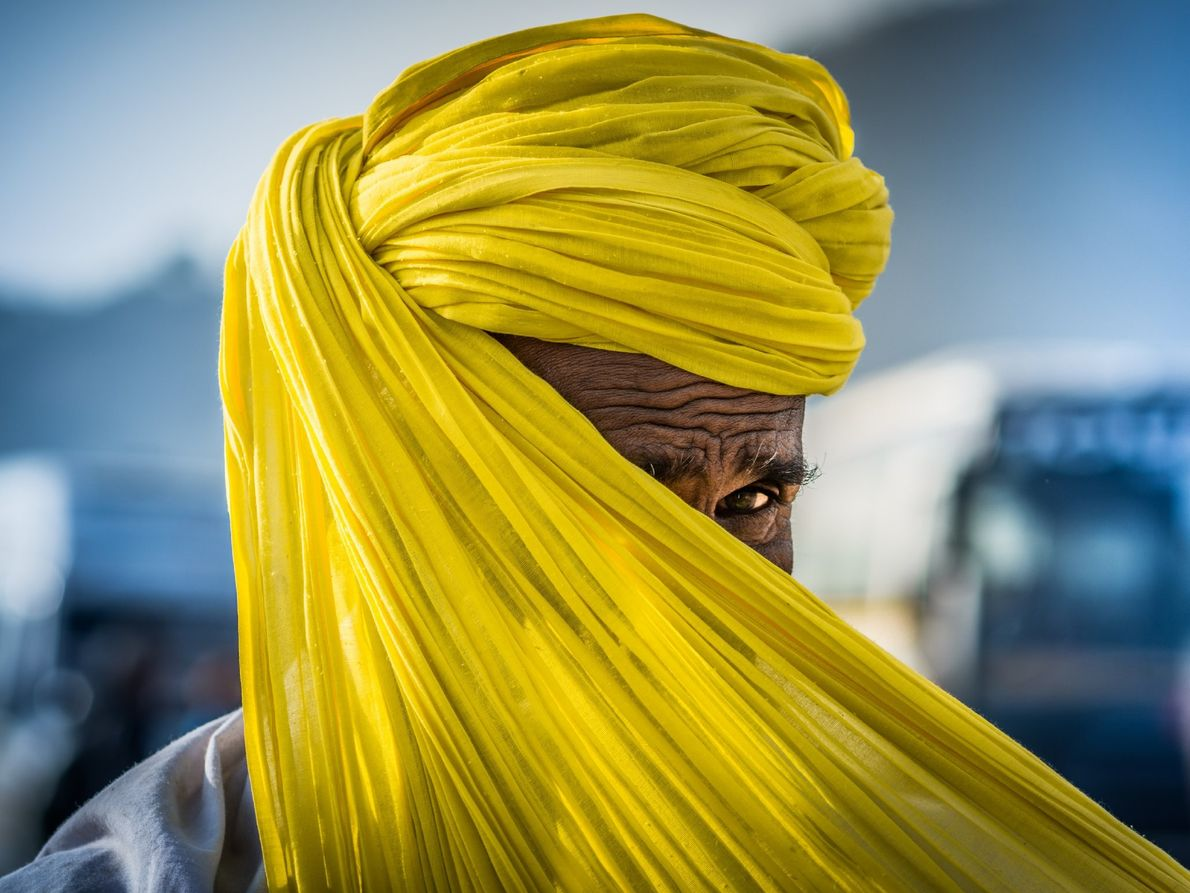 """""""I captured this picture while the man was tying his turban. I already prepared in my ..."""
