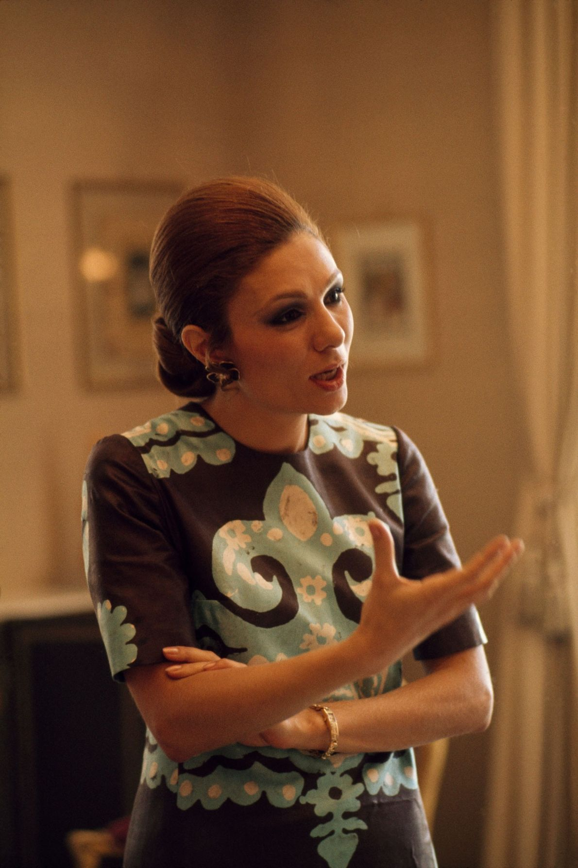 Empress Farah Pahlavi in 1975, four years before she fled Iran during the revolution. She now ...