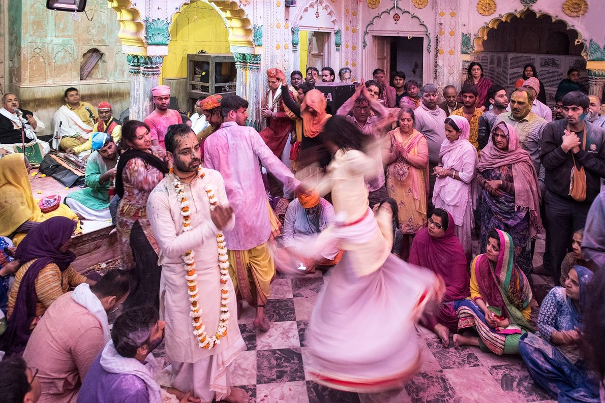 No Holi celebration is complete without traditional dance. People gather in groups on streets, as well ...