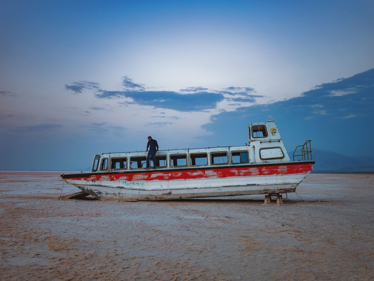 This cruise-boat wreck is a testament to the great days of the Bari tourist resort that ...
