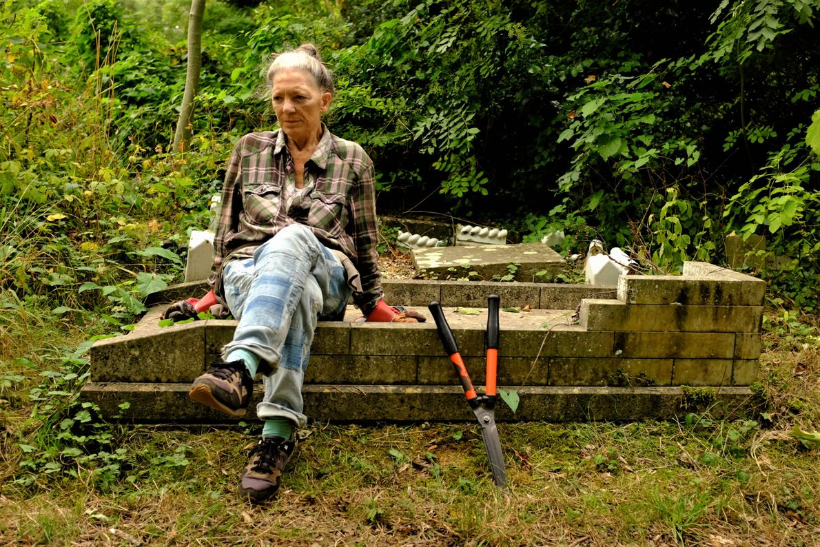 """Katie Thornton: """"Every week, Mary Laurie, 71, dons garden gloves and volunteers clearing weeds and brambles ..."""