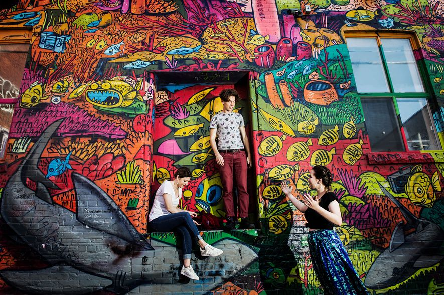 Stroll down the alleys off of Queen Street for a dense collection of colourful murals.