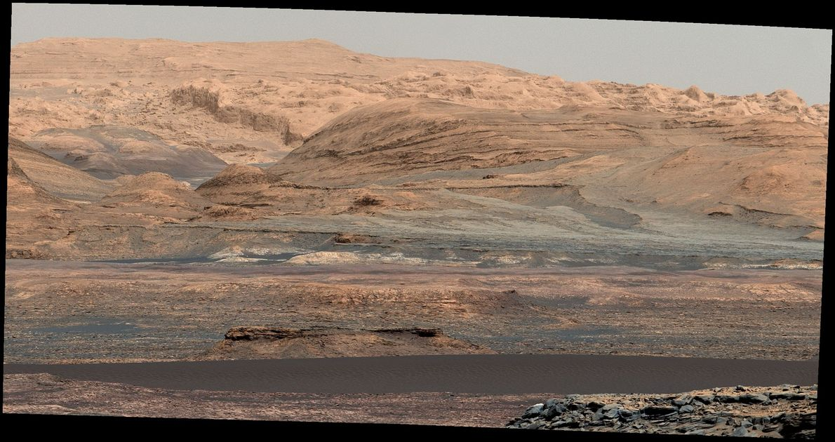 The Curiosity rover captured the Bagnold Dunes inside Gale Crater on Sept. 25, 2015.
