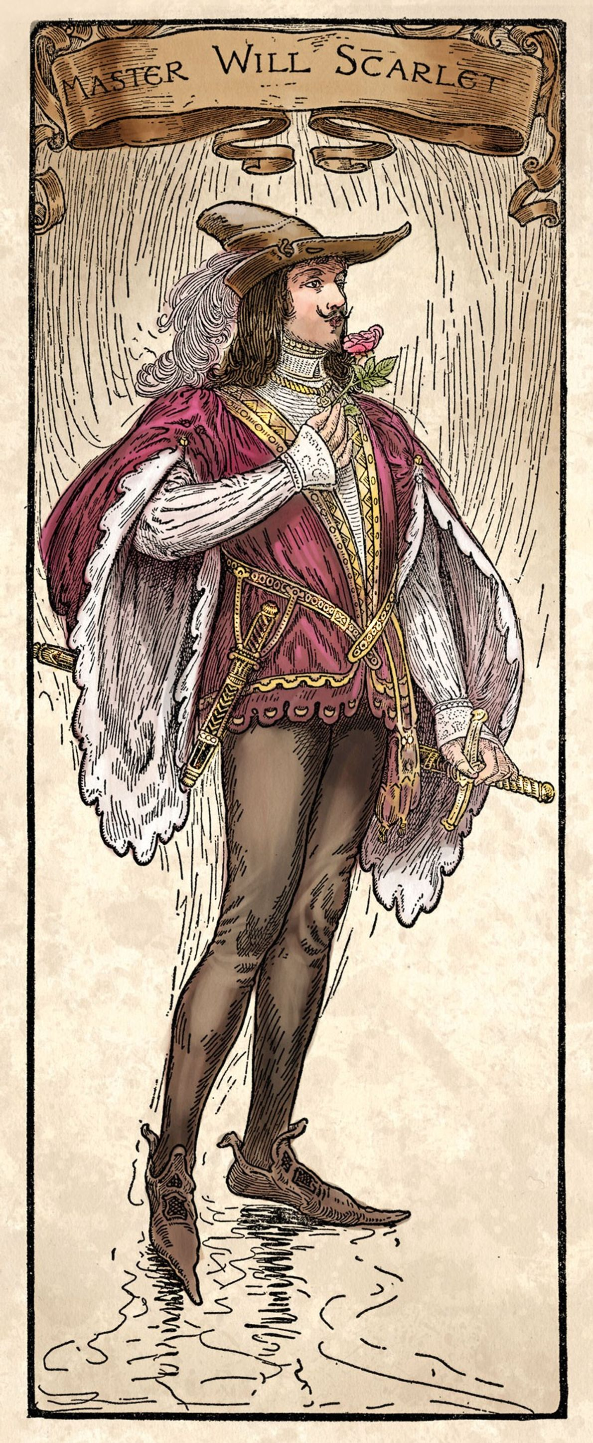 Also known by the nickname Scathelock or Scadlock, Will Scarlet figures in the oldest ballads about ...
