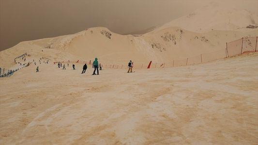 Why Snow in Eastern Europe Is Turning Orange