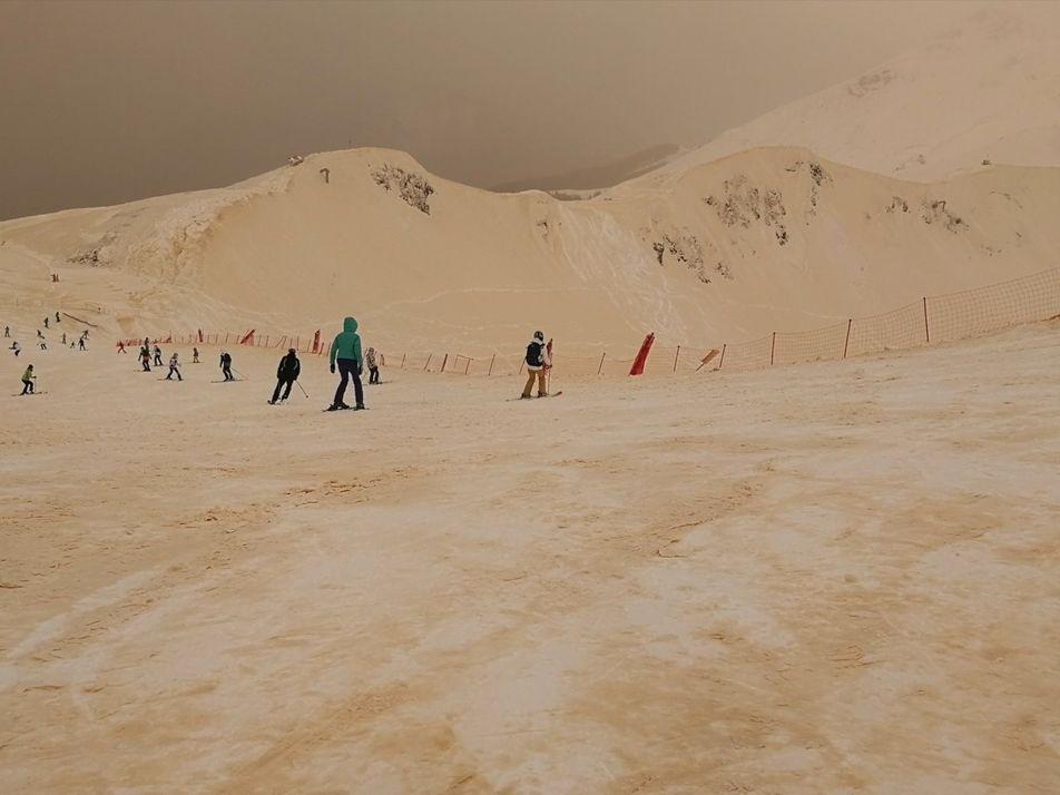 Snow and Skies Turn Orange in Eastern Europe