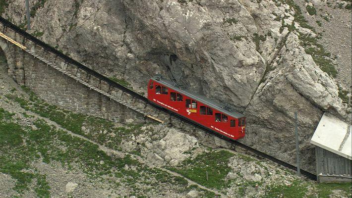 Take a Dizzyingly Steep Ride on a Swiss Alpine Train