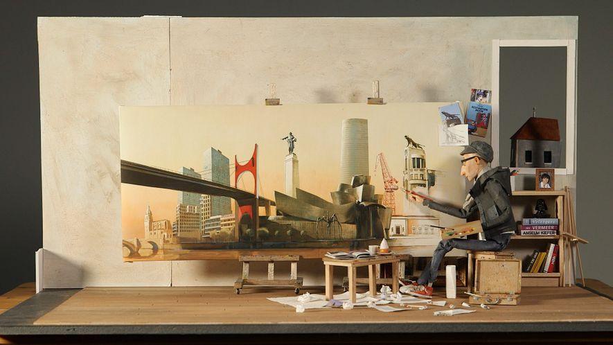 An Artist's Portrait of His Spanish Hometown Bilbao
