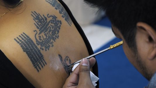 See how this former monk blesses others with his spiritual tattoos