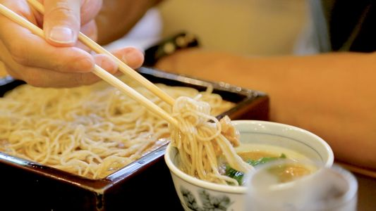 Watch the Japanese art of soba noodle making