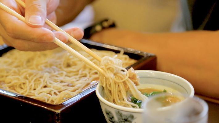 Watch the art of soba noodle making in Japan