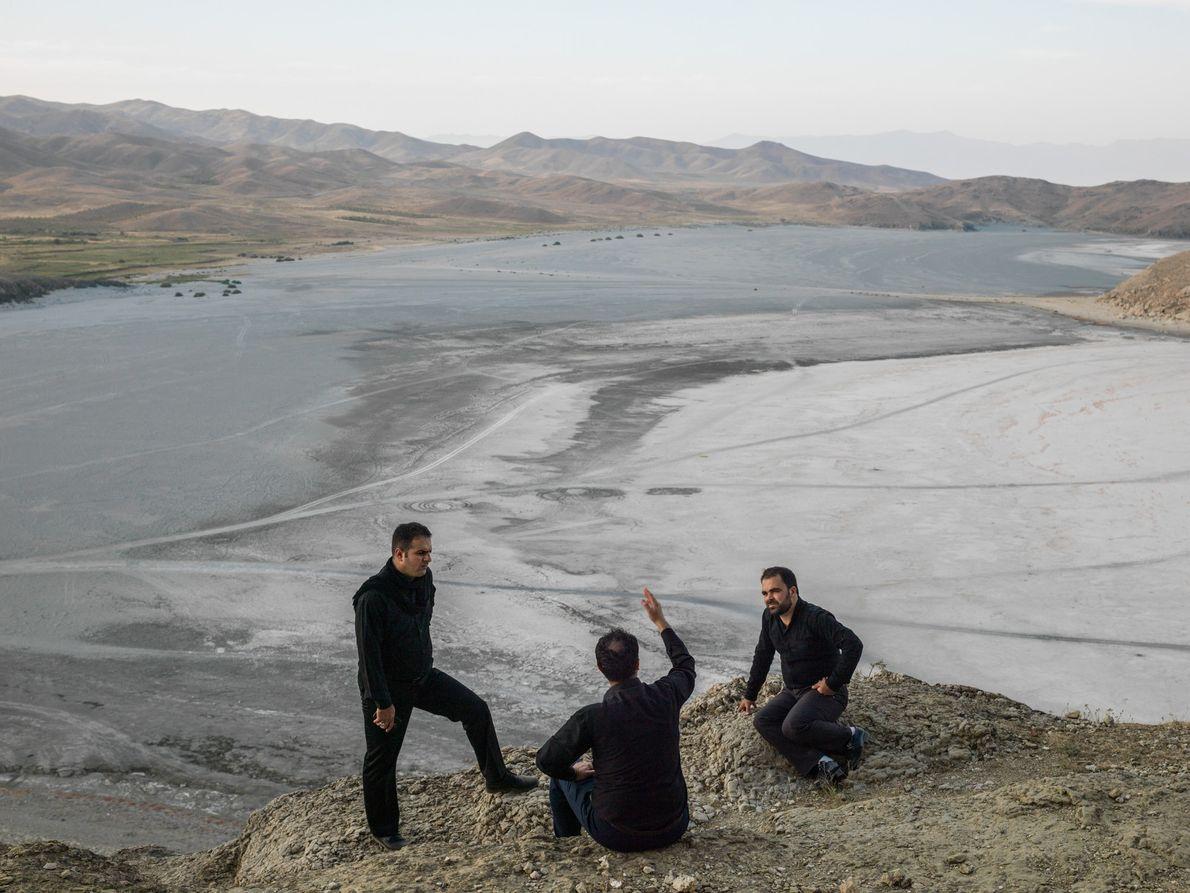 Three brothers at the village of Guvarchin Qaleh.