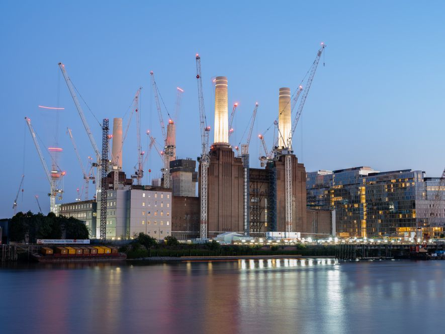 The centrepiece of a mile-long redevelopment along the Thames, the Battersea Power Station will be home ...
