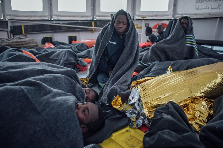 A vehicle for exodus, the Aquarius also provides many refugees with the opportunity to tell their ...