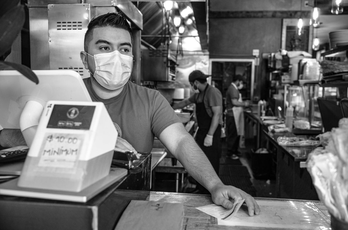 Employees of a popular Brooklyn Mexican restaurant have been working through the pandemic, fueled by a ...