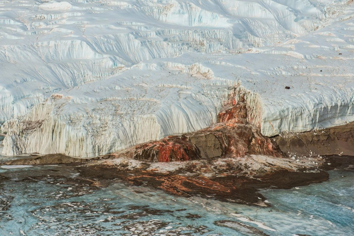 The true cause of the gory colour at Blood Falls in Antarctica was a mystery until ...
