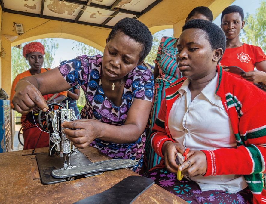 The Rwanda Women's Network provides safe spaces for women to spend time together and acquire vocational ...