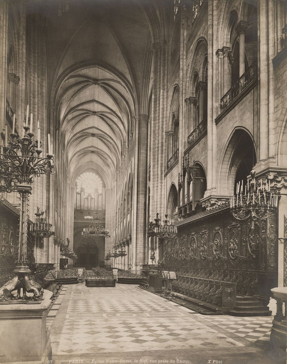 The wooden interior of Notre Dame is said to be destroyed by the recent fire.