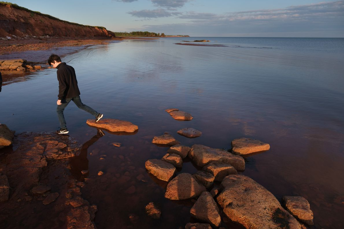 The beach, rocks, and tide pools at secluded Argyle Shore Provincial Park are popular with outdoor ...