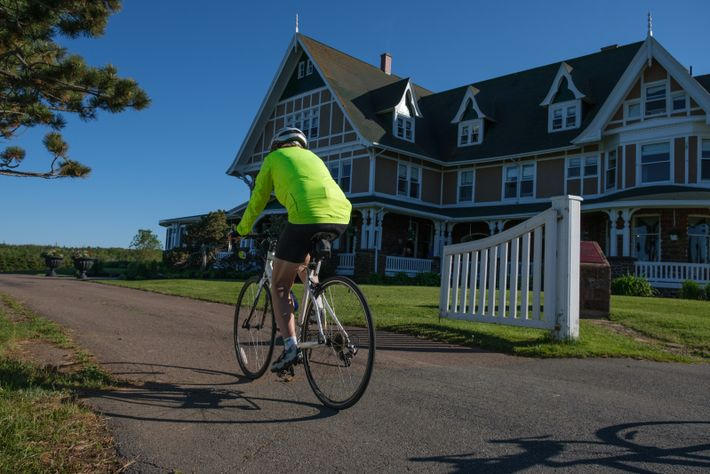 When cycling on the Prince Edward Island National Park bike trail, stop at the historic Dalvay ...