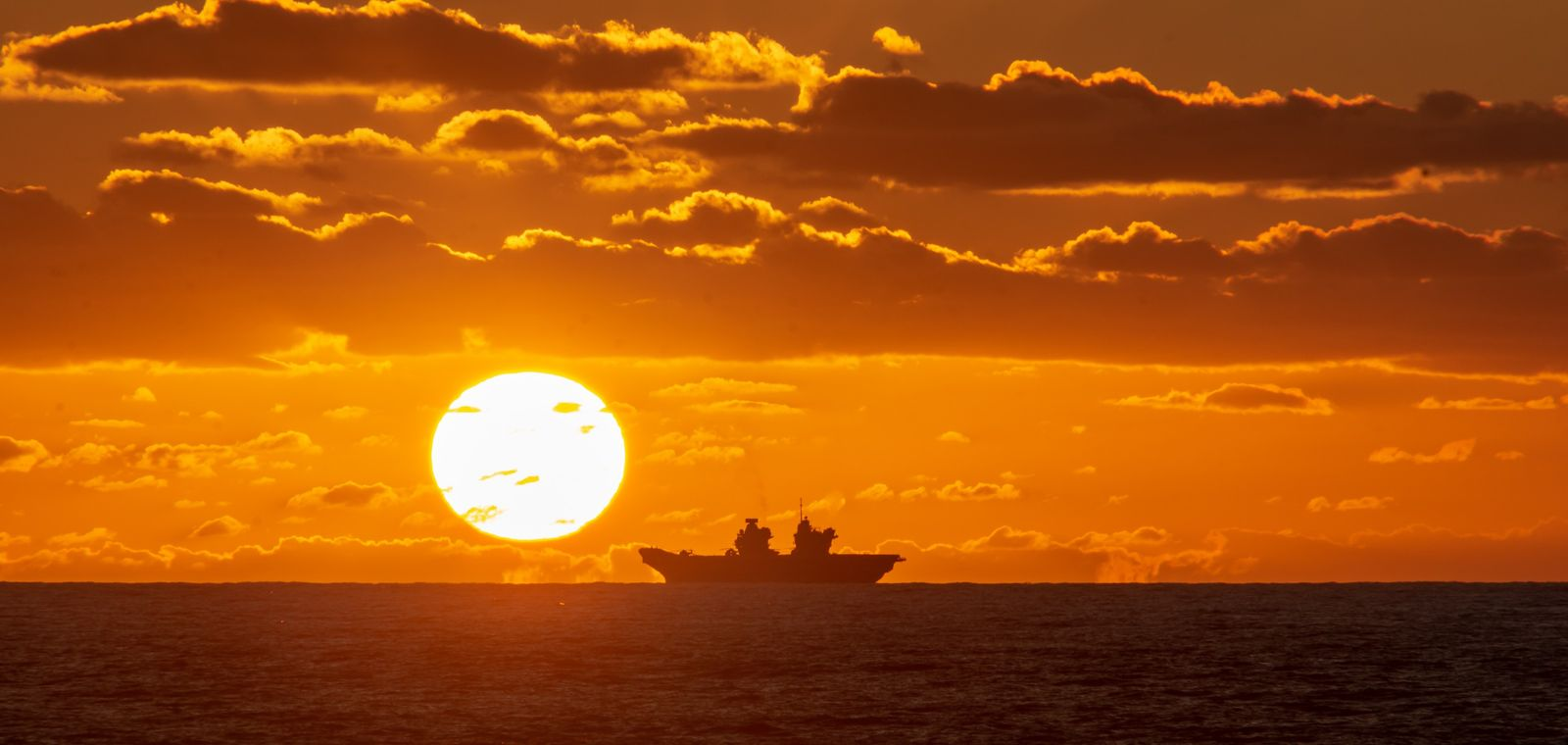 September 2019: HMS Queen Elizabeth during operational training in the North Atlantic.