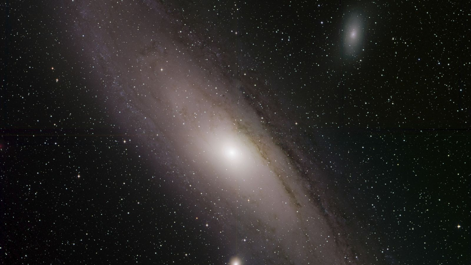The Andromeda galaxy, also known as Messier 31, shines in a newly released picture from the ...