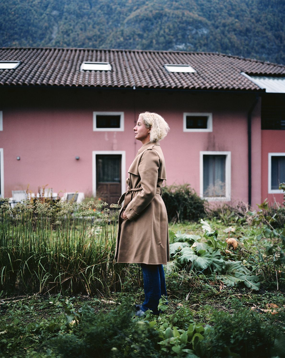 Ana Roš stands in the bio-dynamic gardens outside her restaurant, Hiša Franko, in Kobarid. Ana has ...