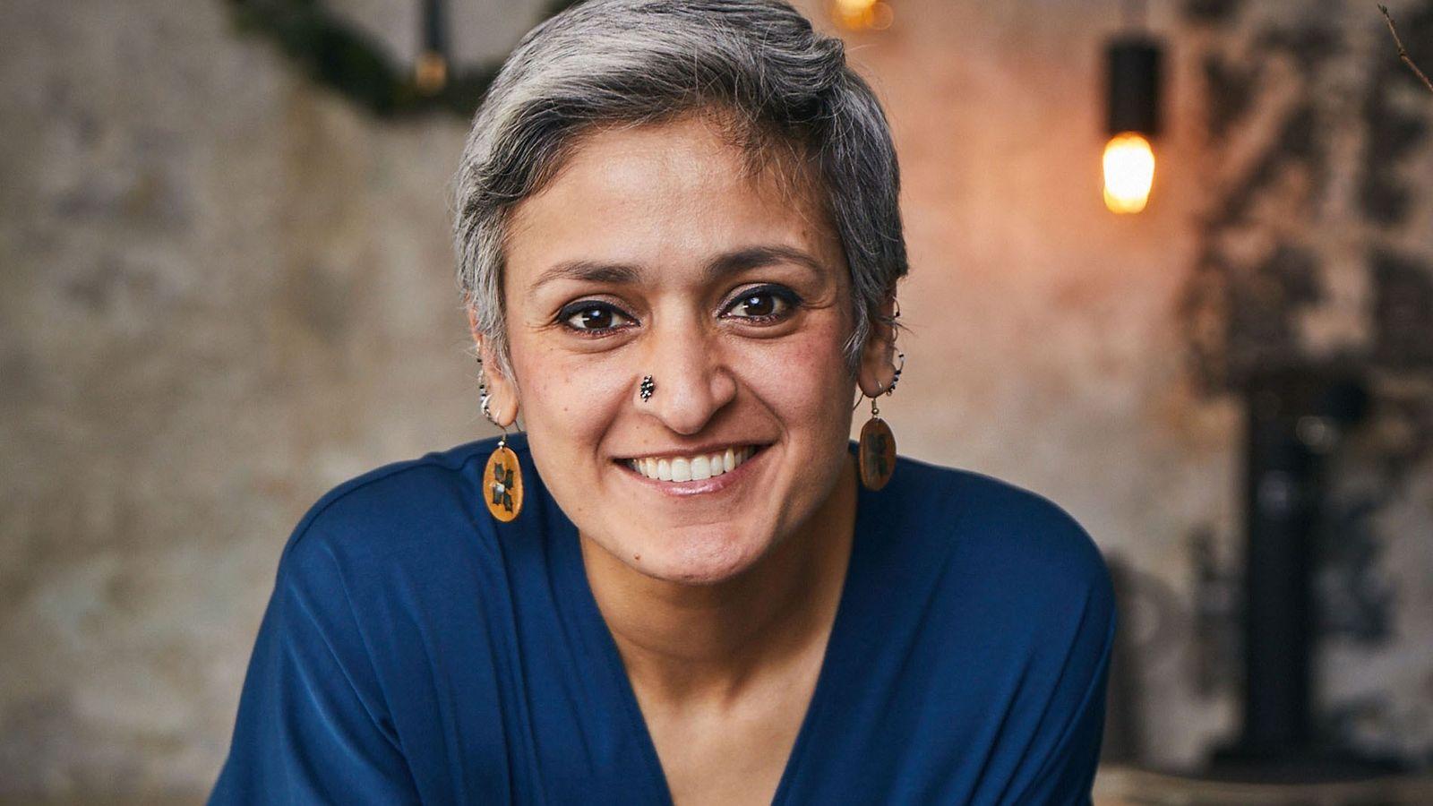 Former champion ofThe Great British Bake Off,Indian food empresario Chetna Makan.