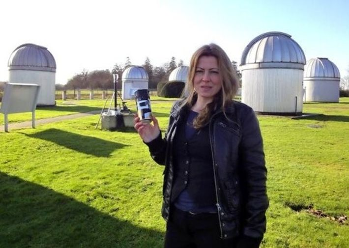 Regina Valkenborgh pictured at the University of Hertfordshire's Bayfordbury Observatory, where she placed the camera – the ...