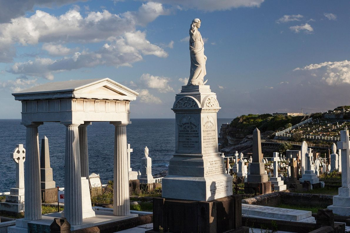 Waverly cemetery in Sydney, Australia, occupies a prime view over one of the world's great harbours.