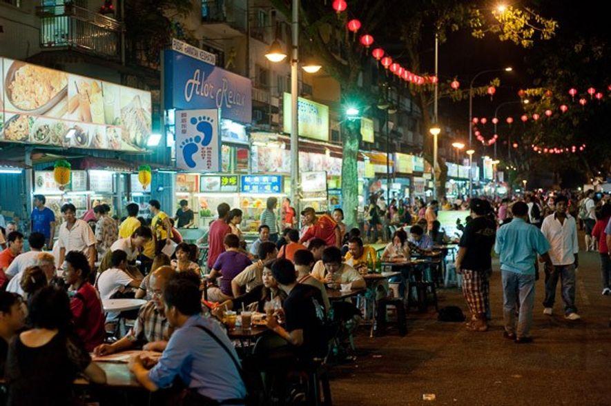 Street food stalls, Kuala Lumpur. Image: James Tye.