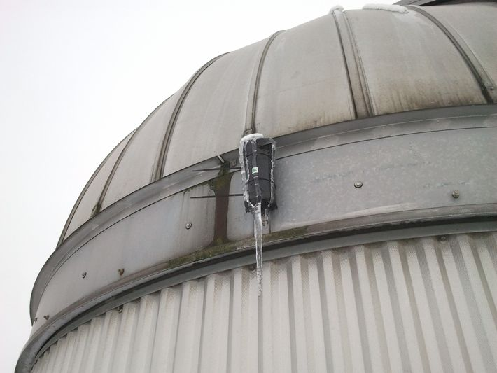 The camera attached to the dome, January 2013. After this, according to the University the camera was 'largely ...