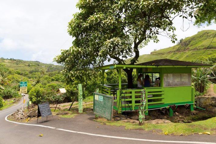 Julia's roadside stand. Image: Susan Seubert